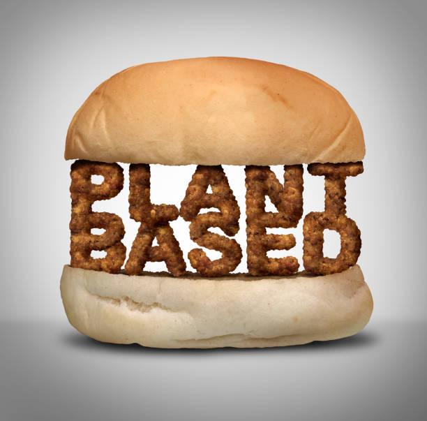 plant op basis van hamburger - vleesvervanger stockfoto's en -beelden