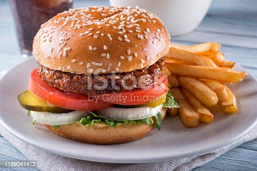 1156991909 istock photo Plant Based Burger 1159041412