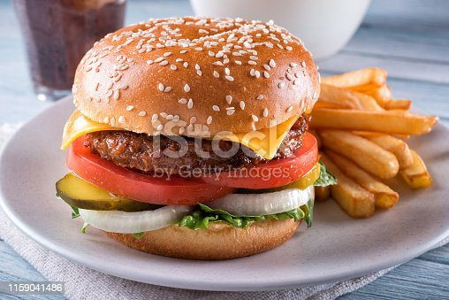 1156991909 istock photo Plant Based Cheeseburger 1159041486