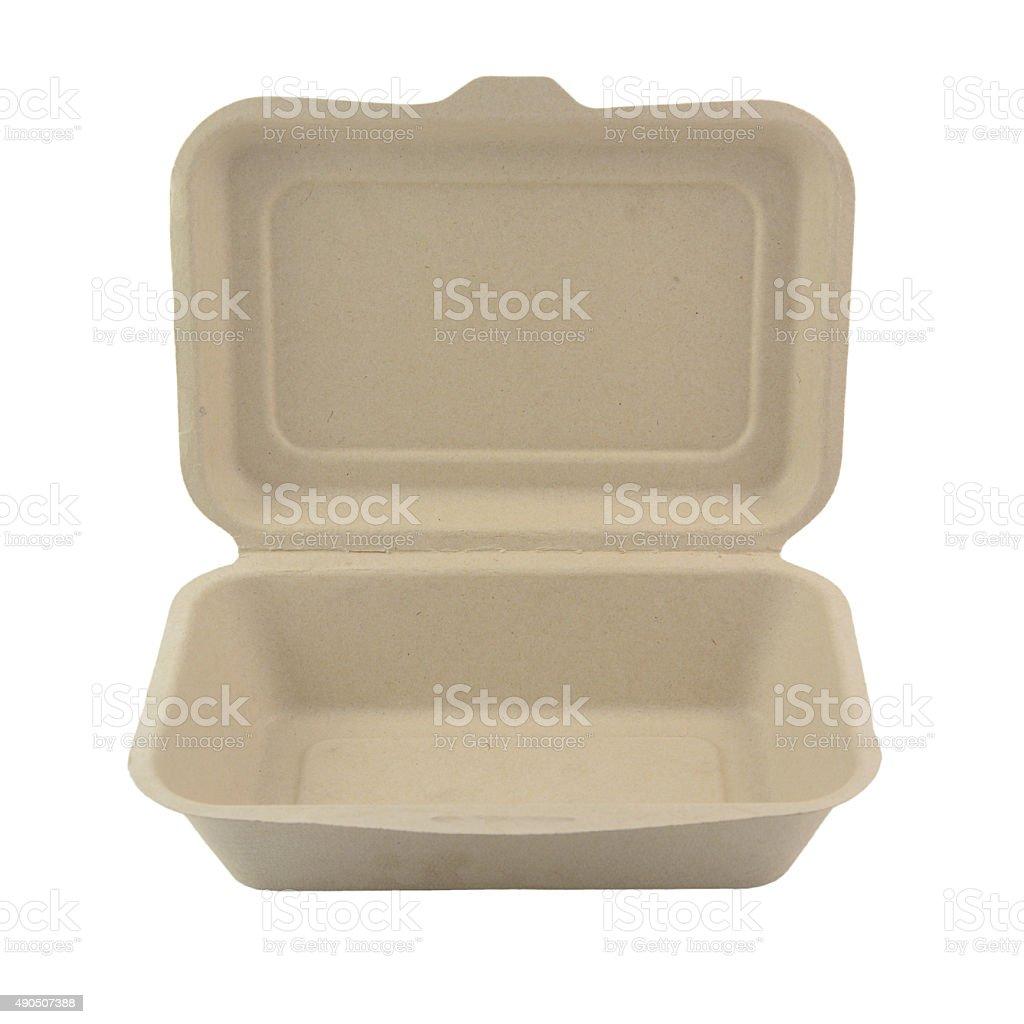 Plant fiber food box stock photo