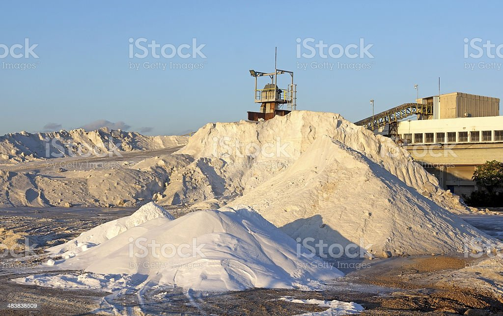 Plant for the extraction of salt royalty-free stock photo