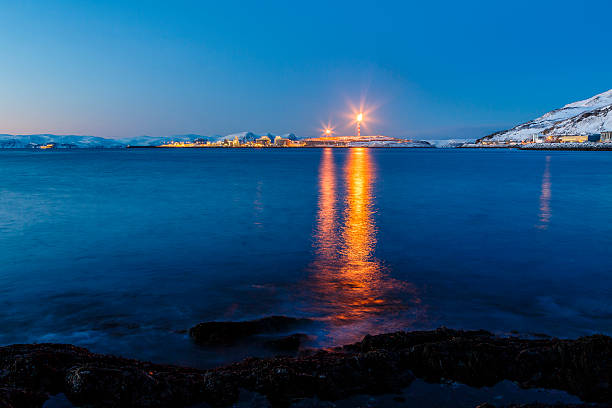 LNG plant in Norway. stock photo