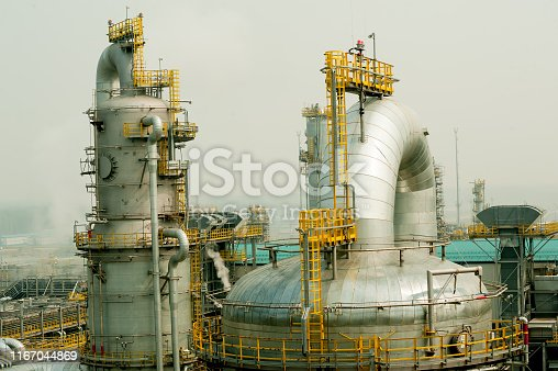 istock Plant on processing of hydrocarbonic raw materials 1167044869