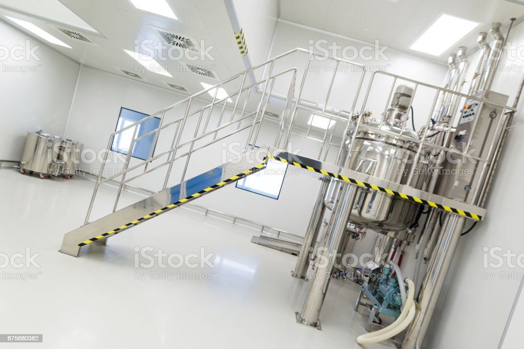 plant picture, big clean room with chrome ladder royalty-free stock photo