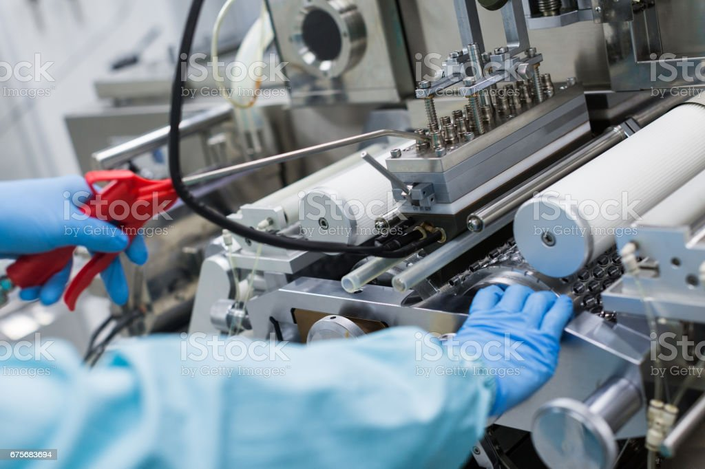 plant picture, factory worker work with machine, steel machines, manufacture royalty-free stock photo