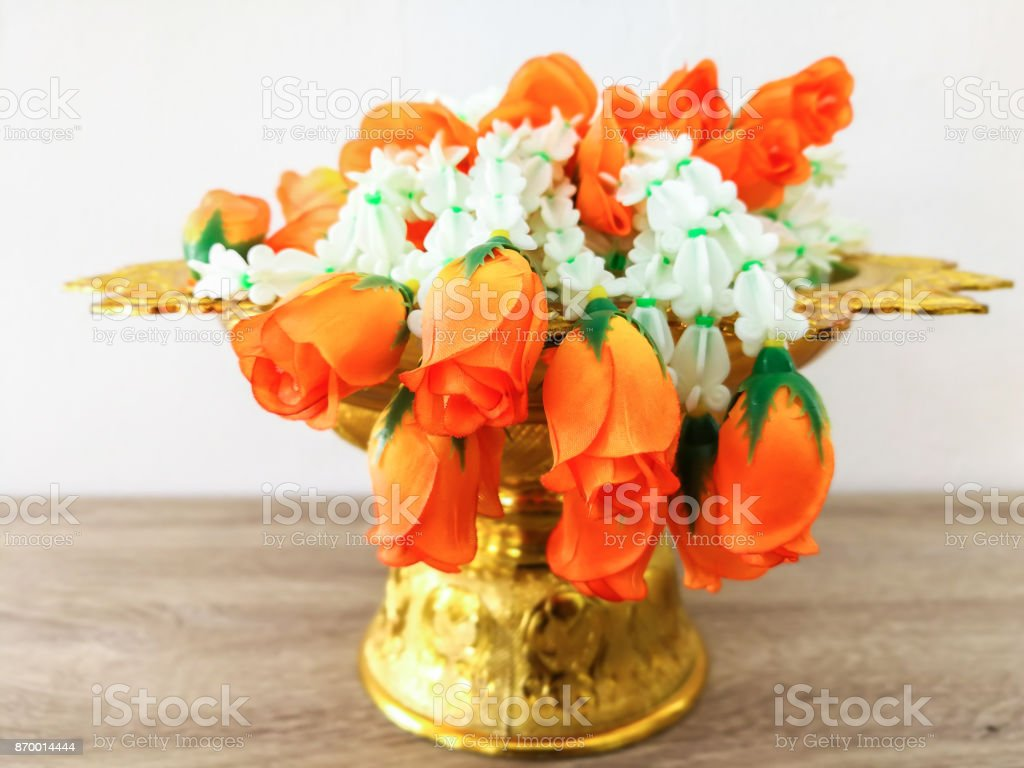 Plant, Plate, Rose - Flower, Thailand, Mother's Day stock photo