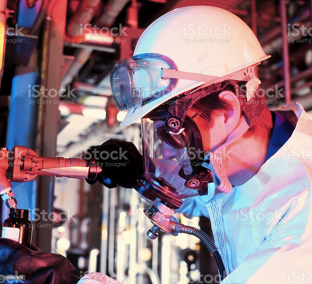 plant worker stock photo
