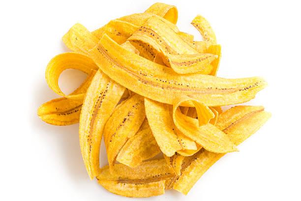 Chips de banana-da-terra (Mariquitas) - foto de acervo