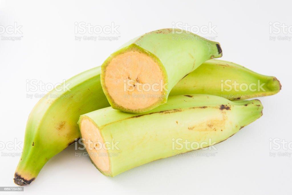 Plátano ou Banana verde (Musa x paradisiaca) - foto de acervo