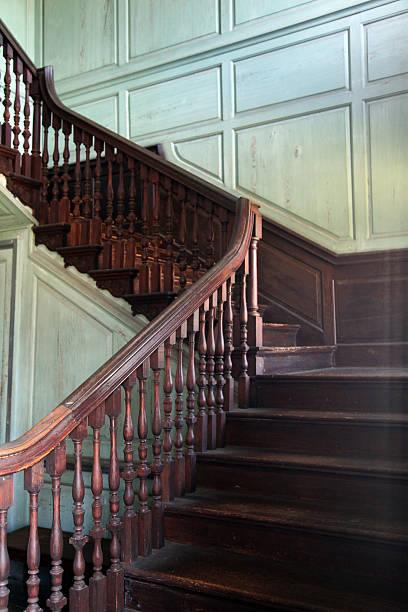Plantation House Staircase stock photo