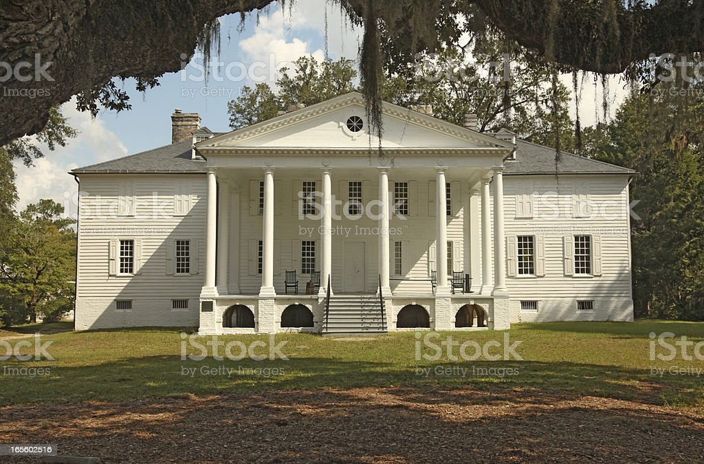 Plantation Mansion stock photo