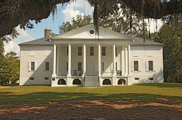 mansión plantation - sur fotografías e imágenes de stock