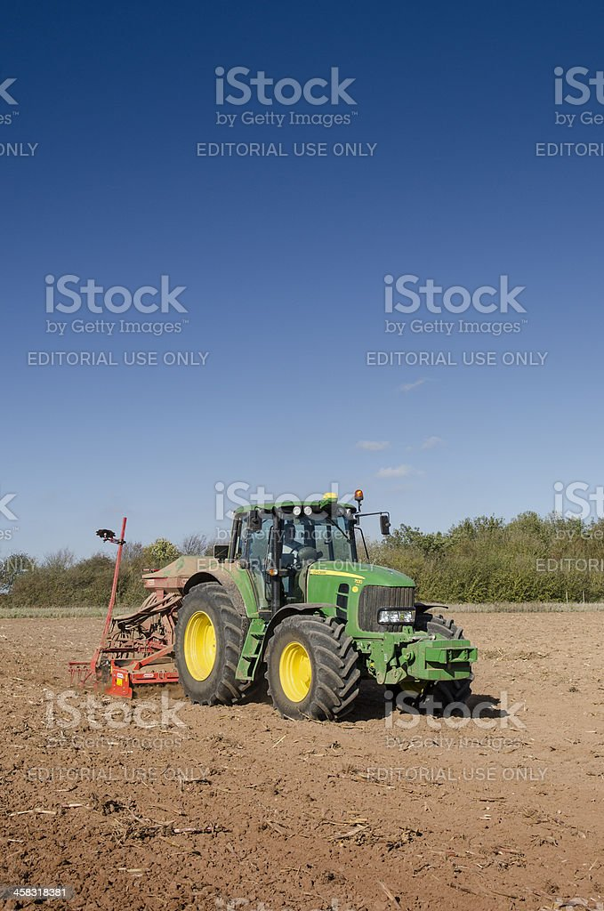 Planting crops stock photo