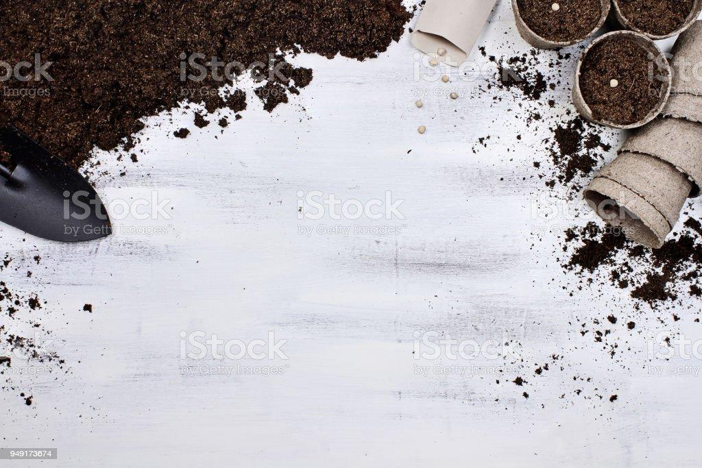 Planting Seeds Background stock photo