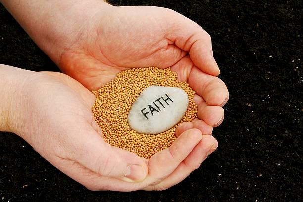 Planting Seeds of Faith stock photo