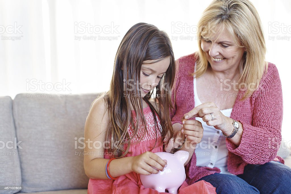 Planting the seeds of good financial management stock photo