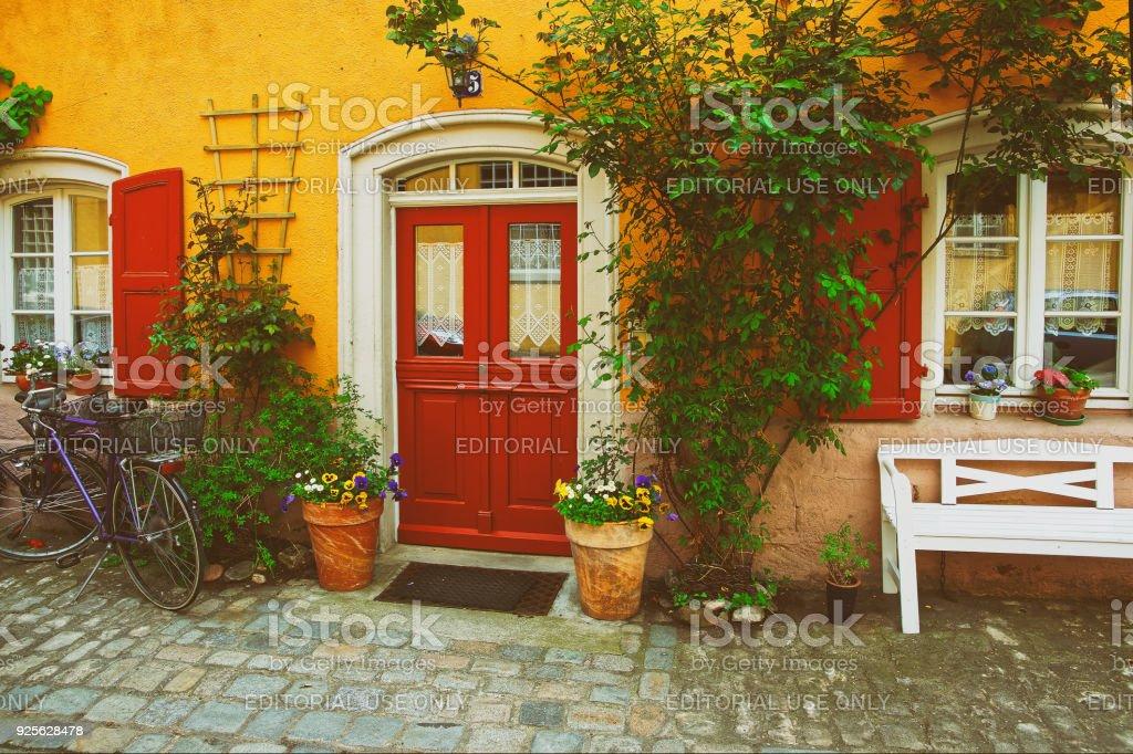 Pflanzen Dekoration Haus des Stadtzentrums alt Bamberg Deutschland – Foto