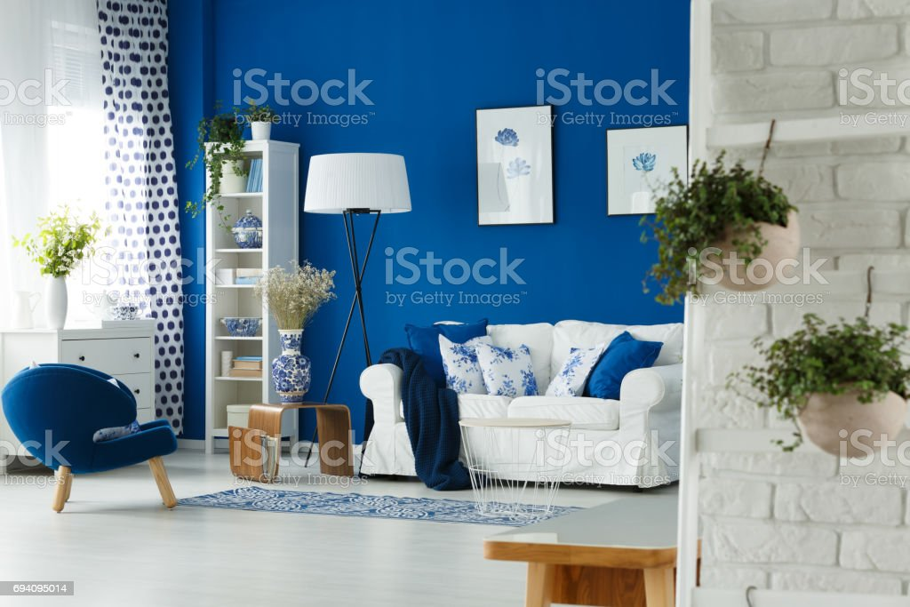 Plants in living room stock photo