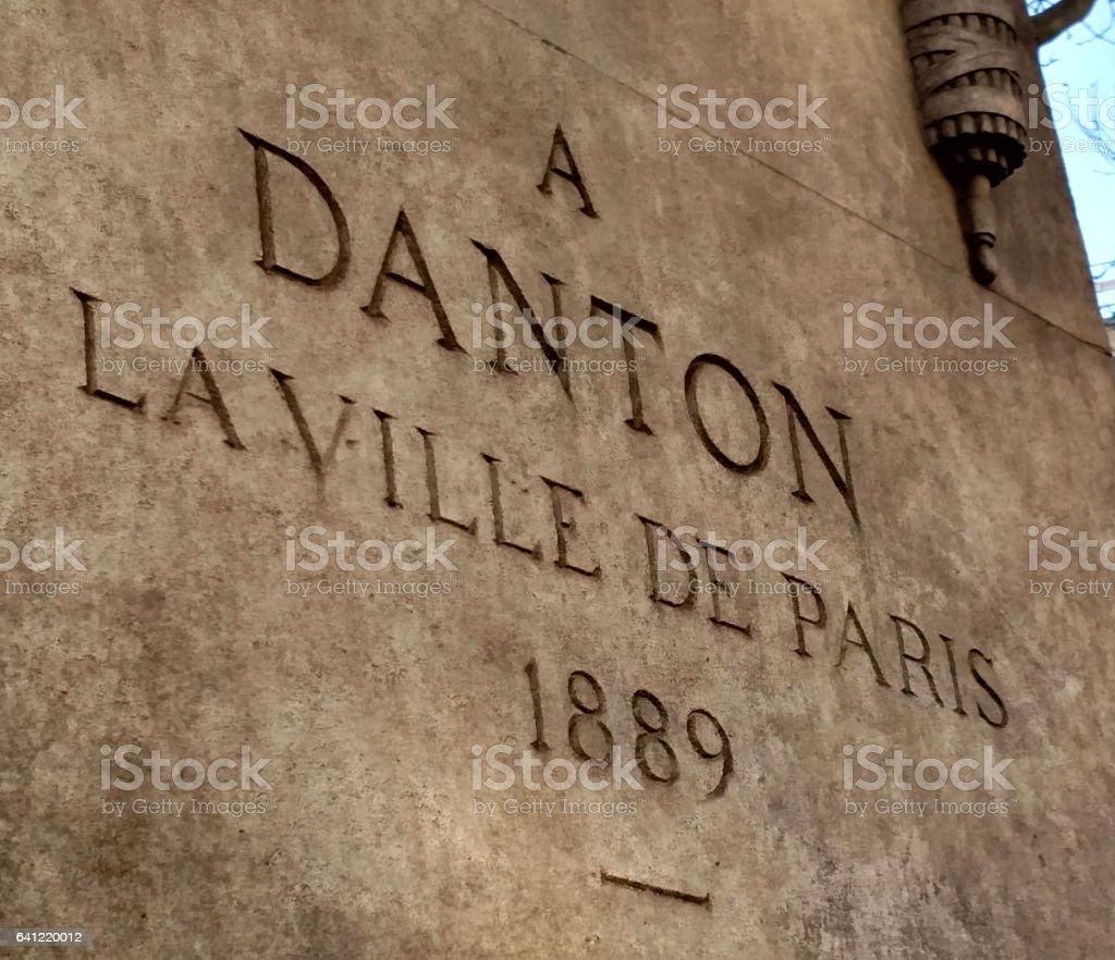 Georges Danton plaque georges danton french revolutionary hero left bank