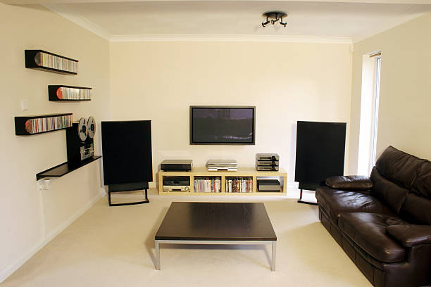 Plasma and Home Cinema  man cave stock pictures, royalty-free photos & images