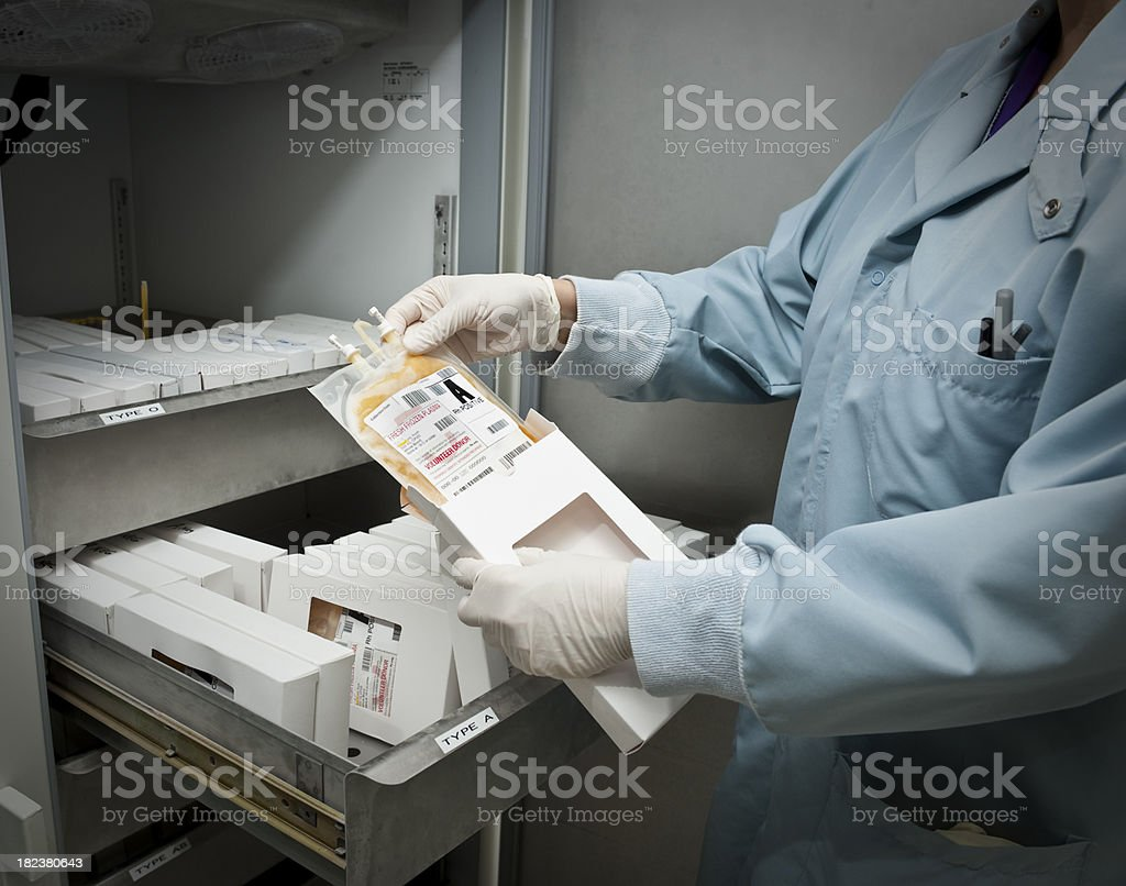 Plasma Bag stock photo