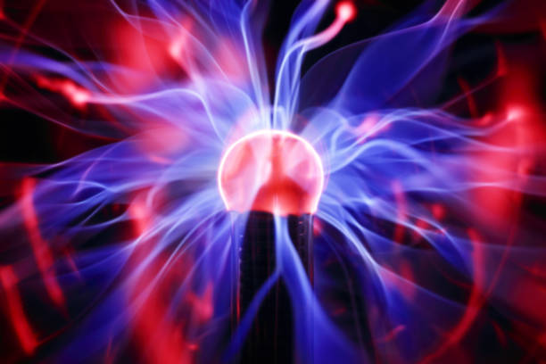 Plasma ball energy stock photo
