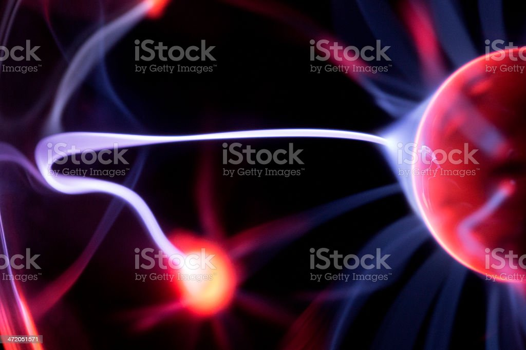 Plasma Ball macro stock photo