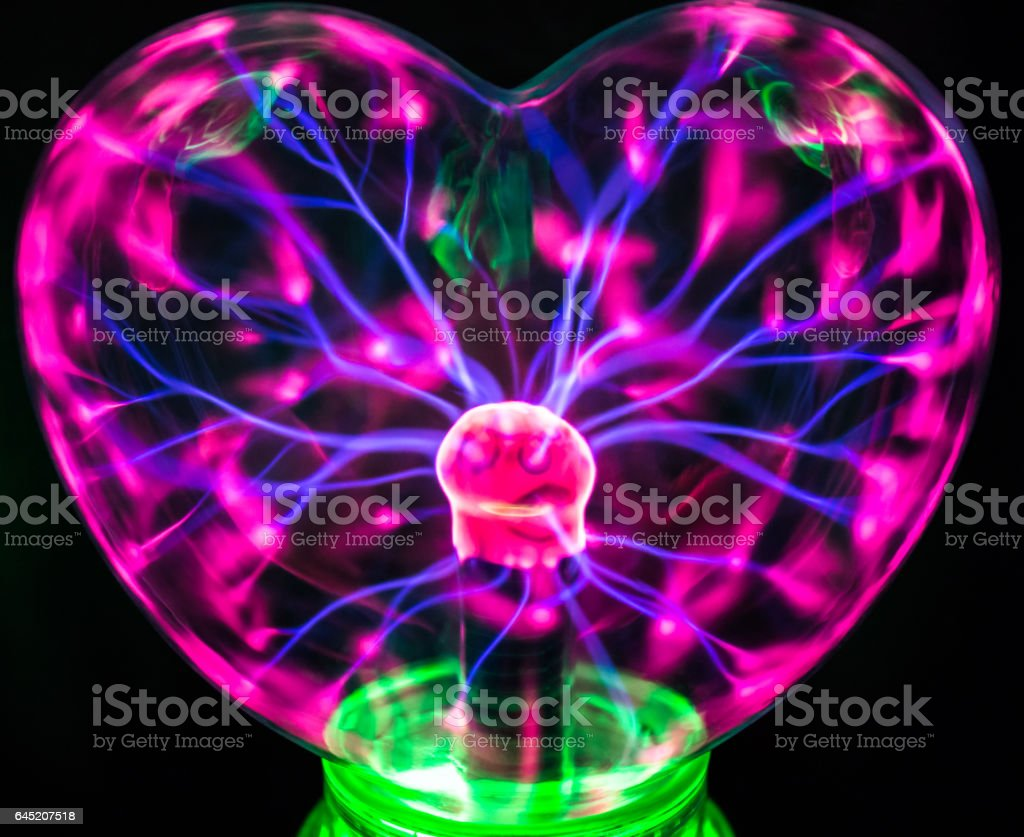 Plasma Bulb From Tesla Lamp Toy Royalty Free Stock Photo