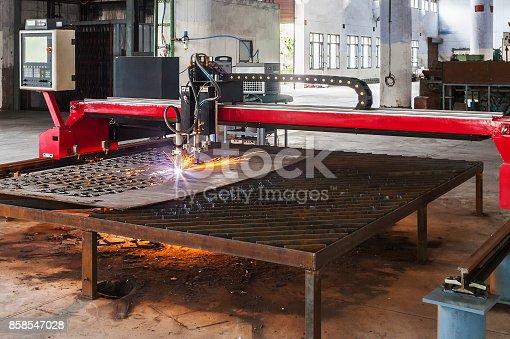 istock plasma cutting machine 858547028