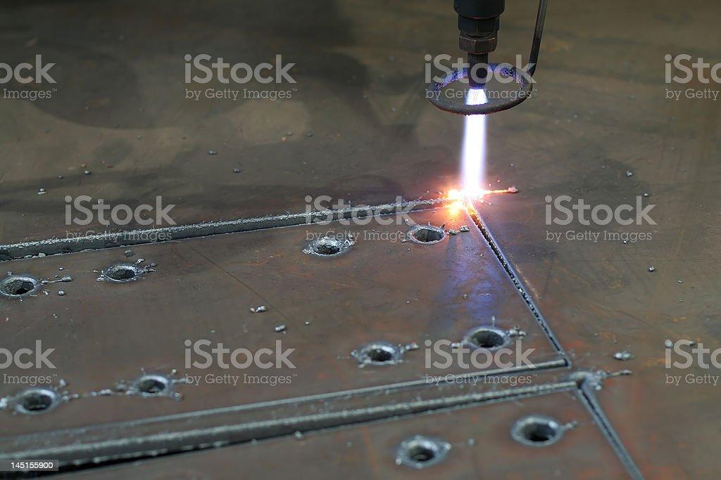 Plasma cutting royalty-free stock photo