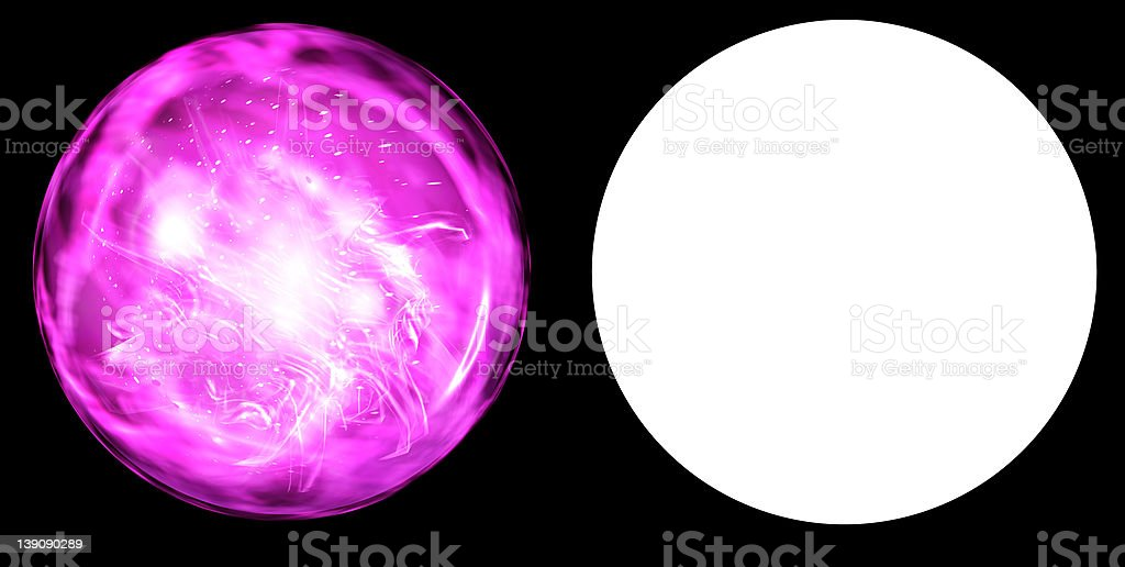 Plasma Orb royalty-free stock photo