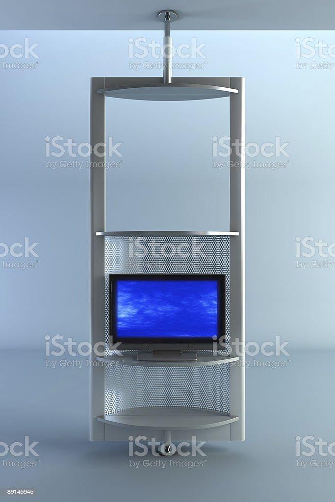 Plasma TV on the rack royalty-free stock photo