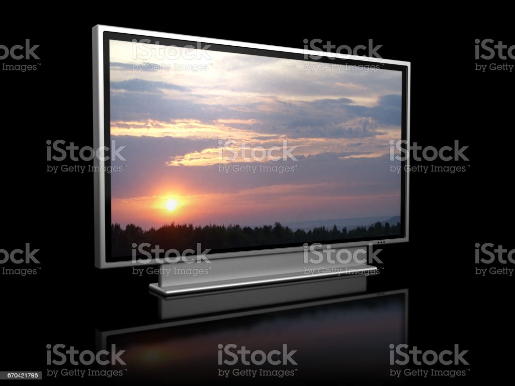 plasma tv stock photo