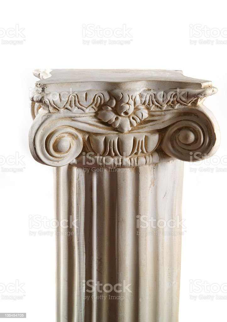 Plaster column on white royalty-free stock photo