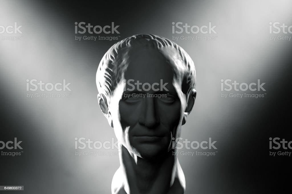 Plaster head of Caesar stock photo