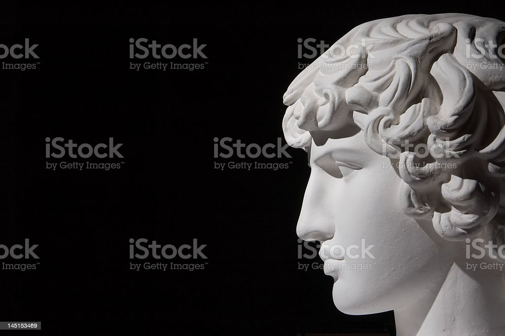 Plaster head stock photo