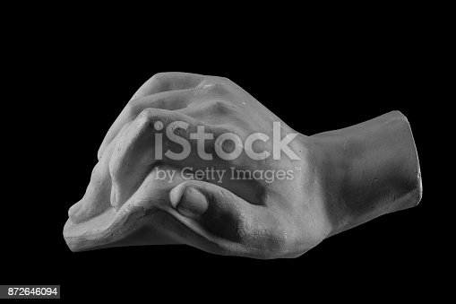 665487076istockphoto plaster limb, male hand with fingers 872646094