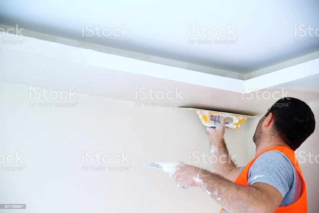 Plaster master stock photo