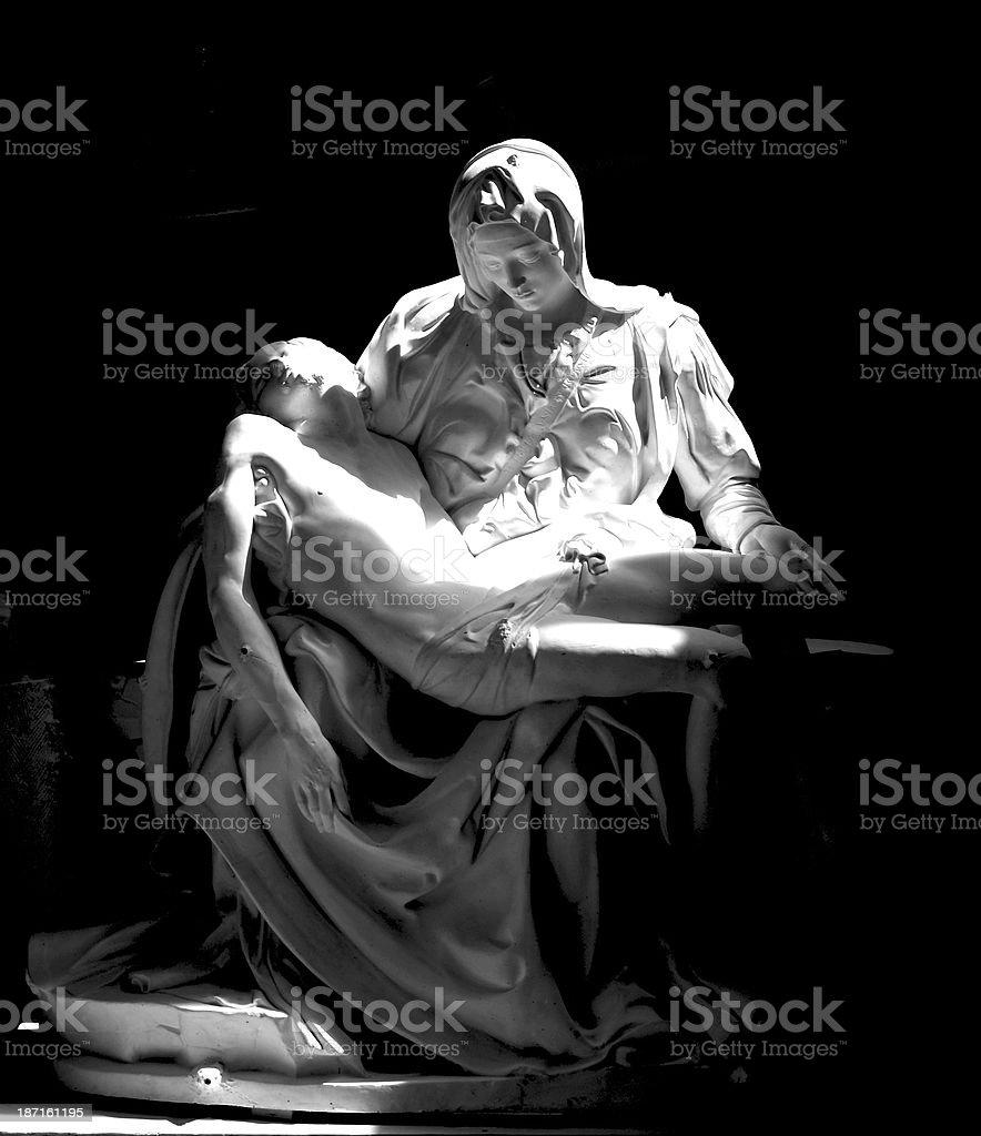 Plaster model of La Pieta... royalty-free stock photo