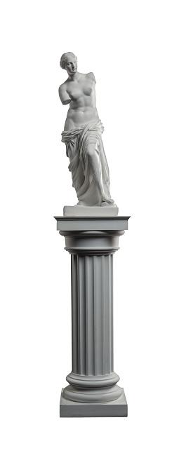 868667742 istock photo plaster sculpture of Venus on a white background, gypsum 868662026