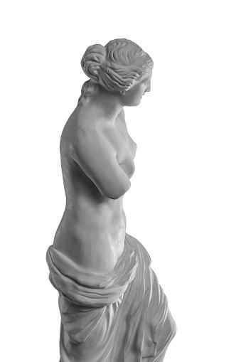868667742 istock photo plaster sculpture of Venus on a white background, gypsum 868662056
