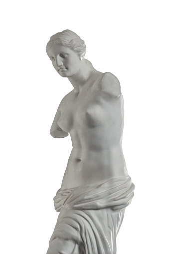 868667742 istock photo plaster sculpture of Venus on a white background, gypsum 868662172