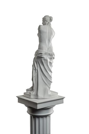 868667742 istock photo plaster sculpture of Venus on a white background, gypsum 868662212