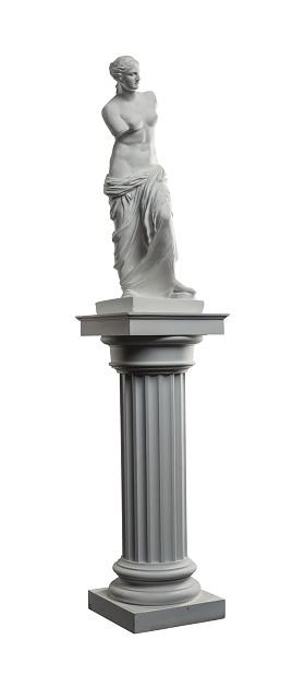 868667742 istock photo plaster sculpture of Venus on a white background, gypsum 868662382