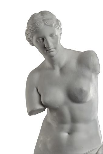 868667742 istock photo plaster sculpture of Venus on a white background, gypsum 868662562