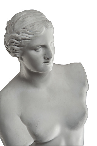 868667742 istock photo plaster sculpture of Venus on a white background, gypsum 868662616