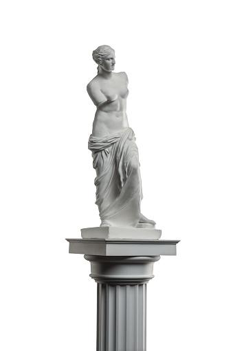 868667742 istock photo plaster sculpture of Venus on a white background, gypsum 868662650