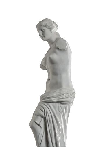 868667742 istock photo plaster sculpture of Venus on a white background, gypsum 868662838