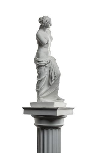 868667742 istock photo plaster sculpture of Venus on a white background, gypsum 868662932