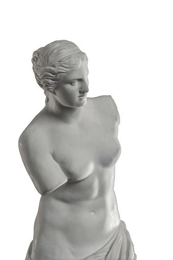 868667742 istock photo plaster sculpture of Venus on a white background, gypsum 868662962